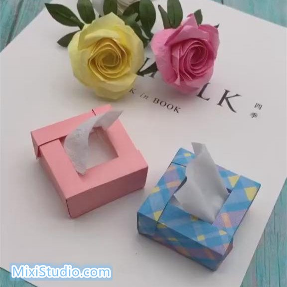 How To Make Mini Paper Tissue Box